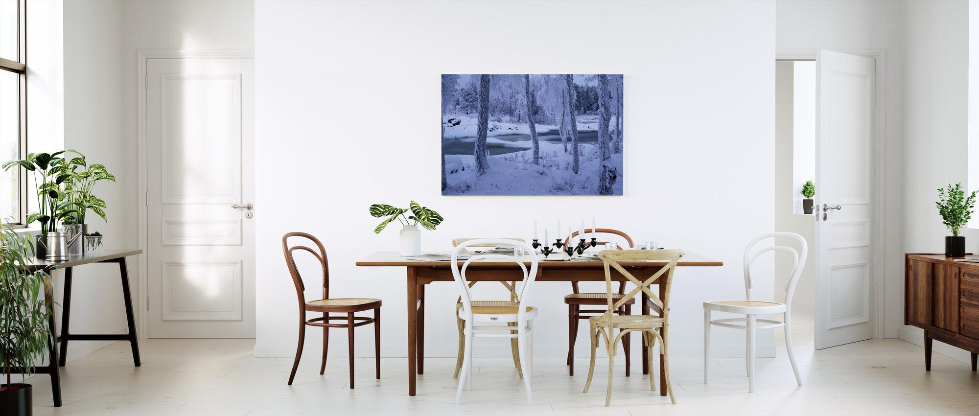 Kengisforsen in Winter Dress - Canvas print - Kitchen