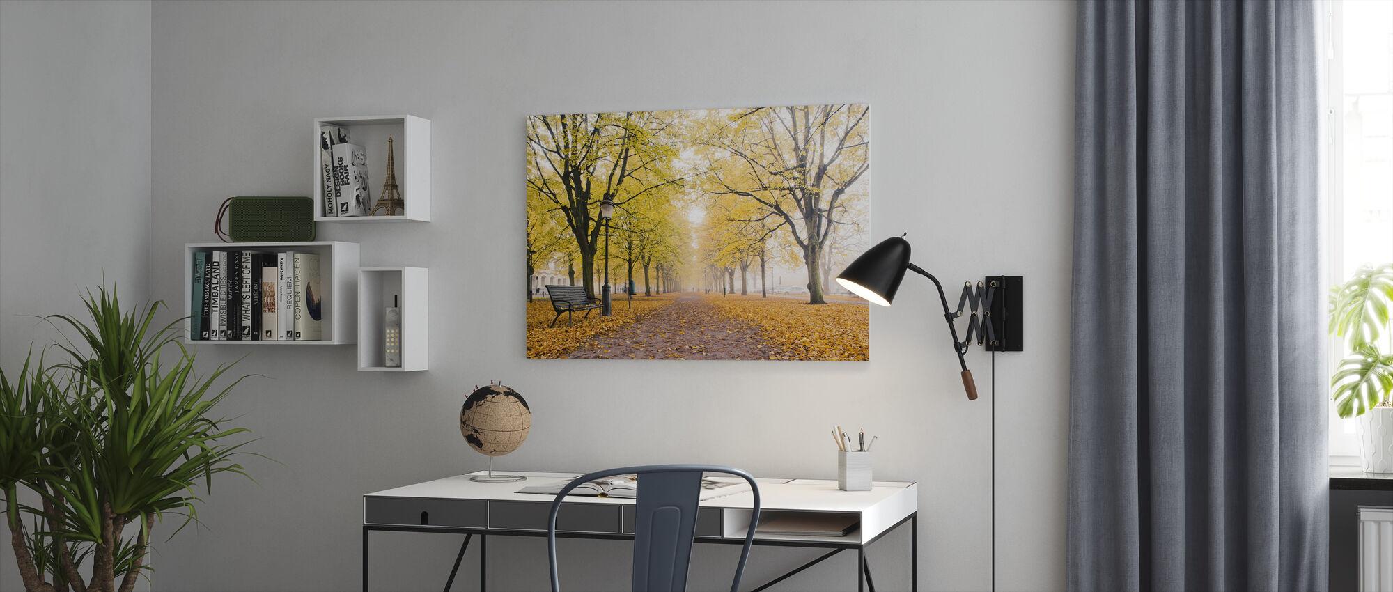 Malmo Alley - Canvas print - Office