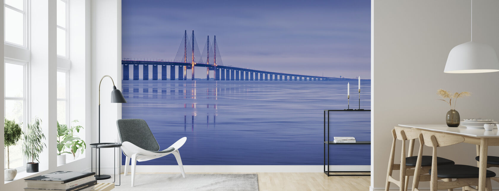Oresund Bridge - Wallpaper - Living Room