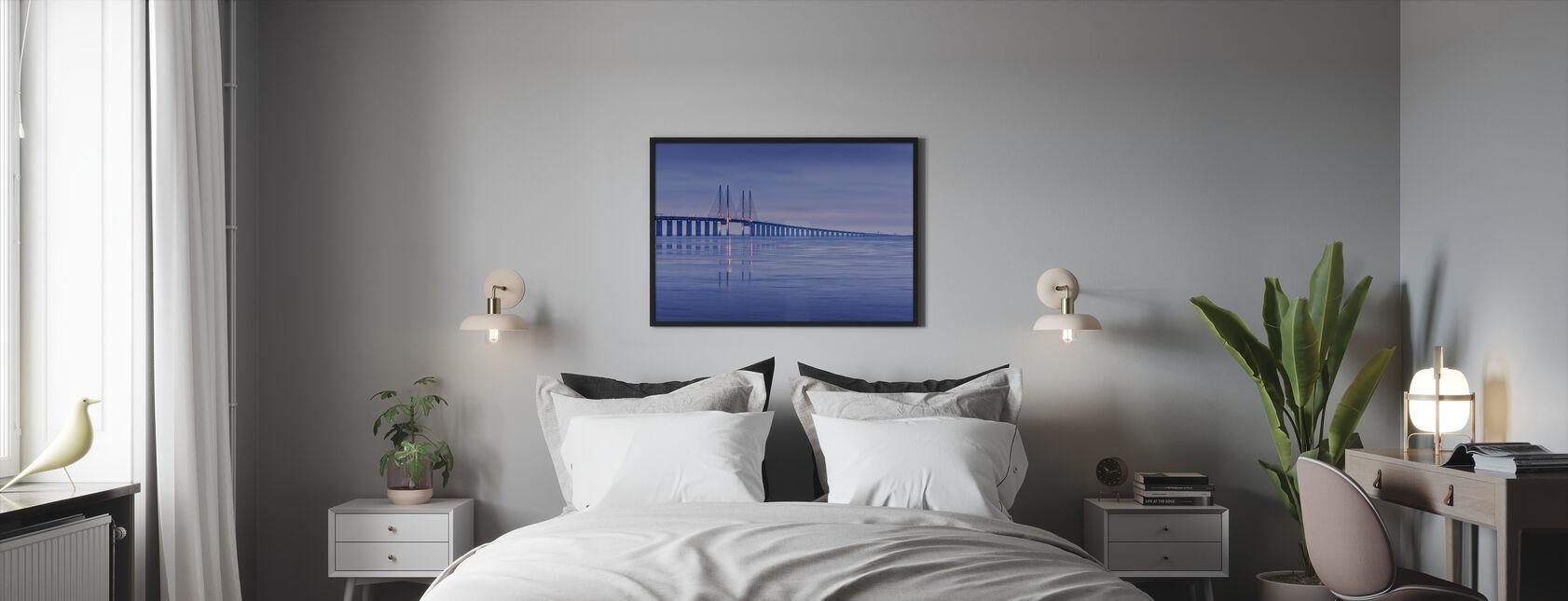 Öresundsbron - Inramad tavla - Sovrum