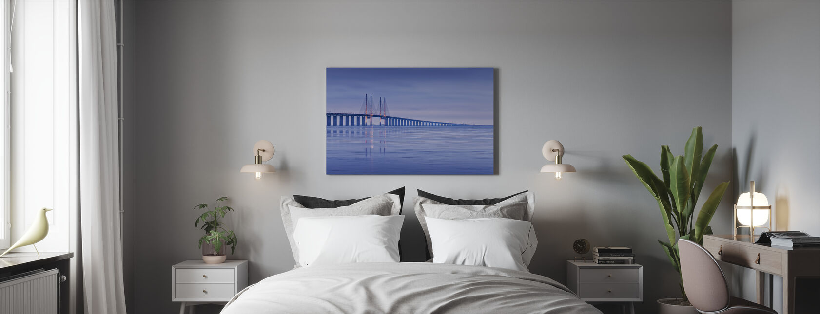 Öresundsbron - Canvastavla - Sovrum