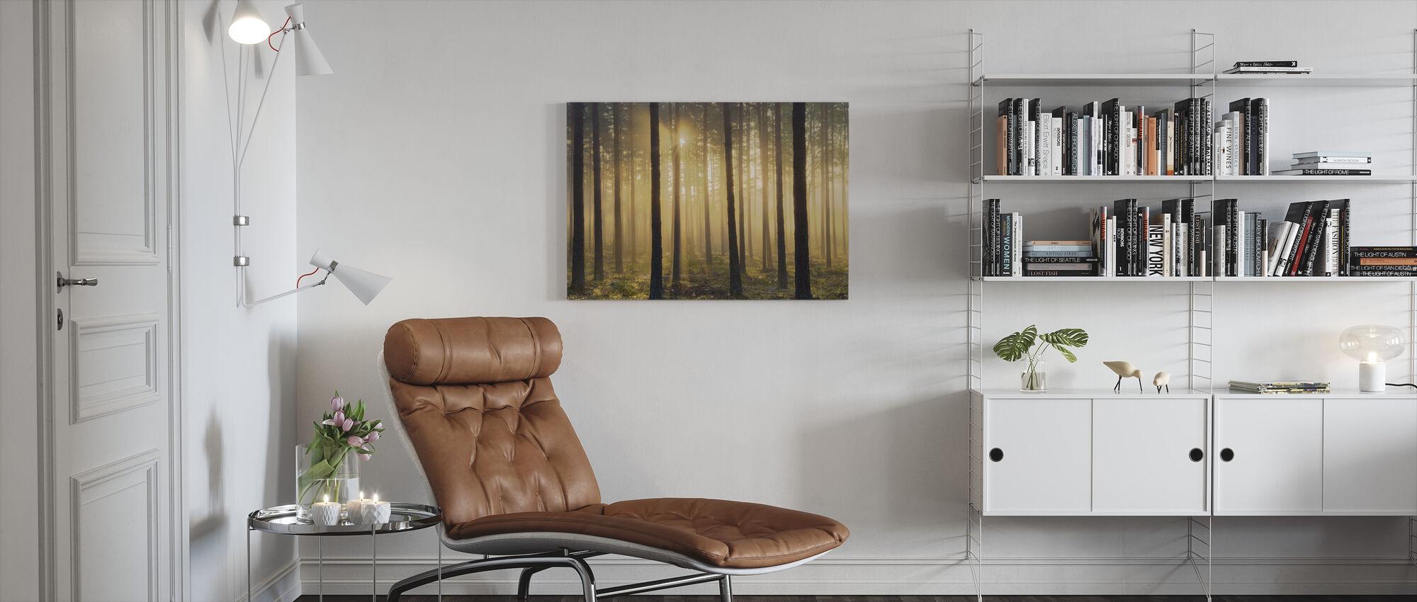 Pine Tree Morning - Canvas print - Living Room