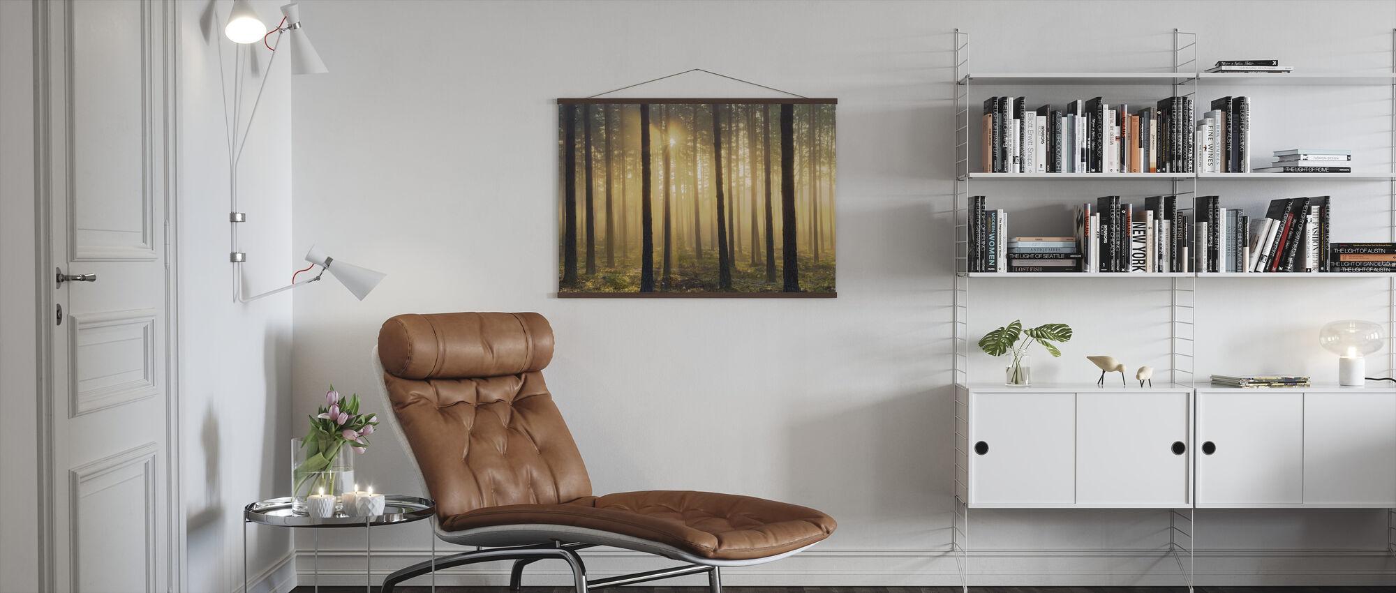 Pine Tree Morning - Poster - Living Room
