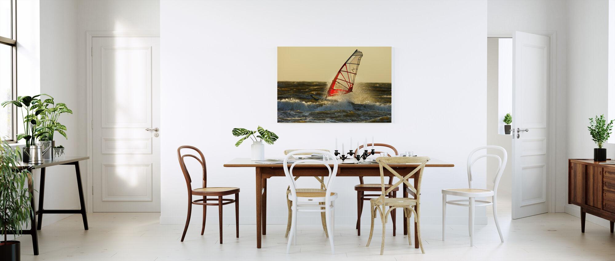 Surfing in Sweden, Europe - Canvas print - Kitchen