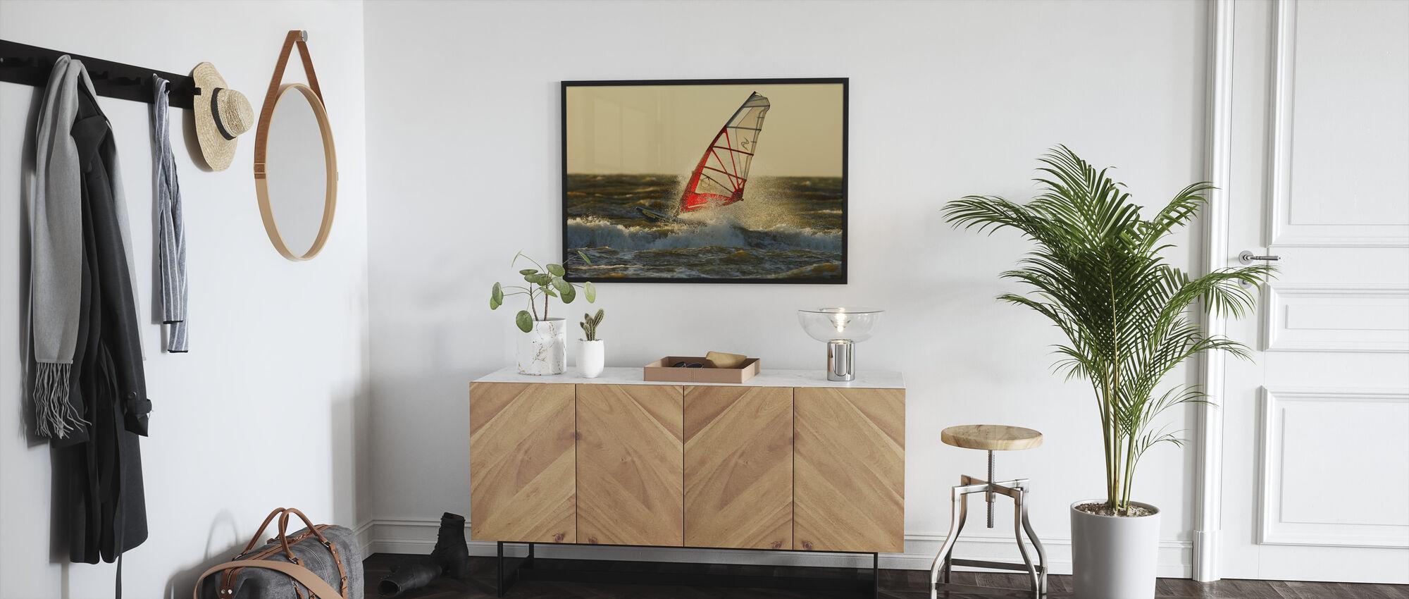Surfing in Sweden, Europe - Framed print - Hallway