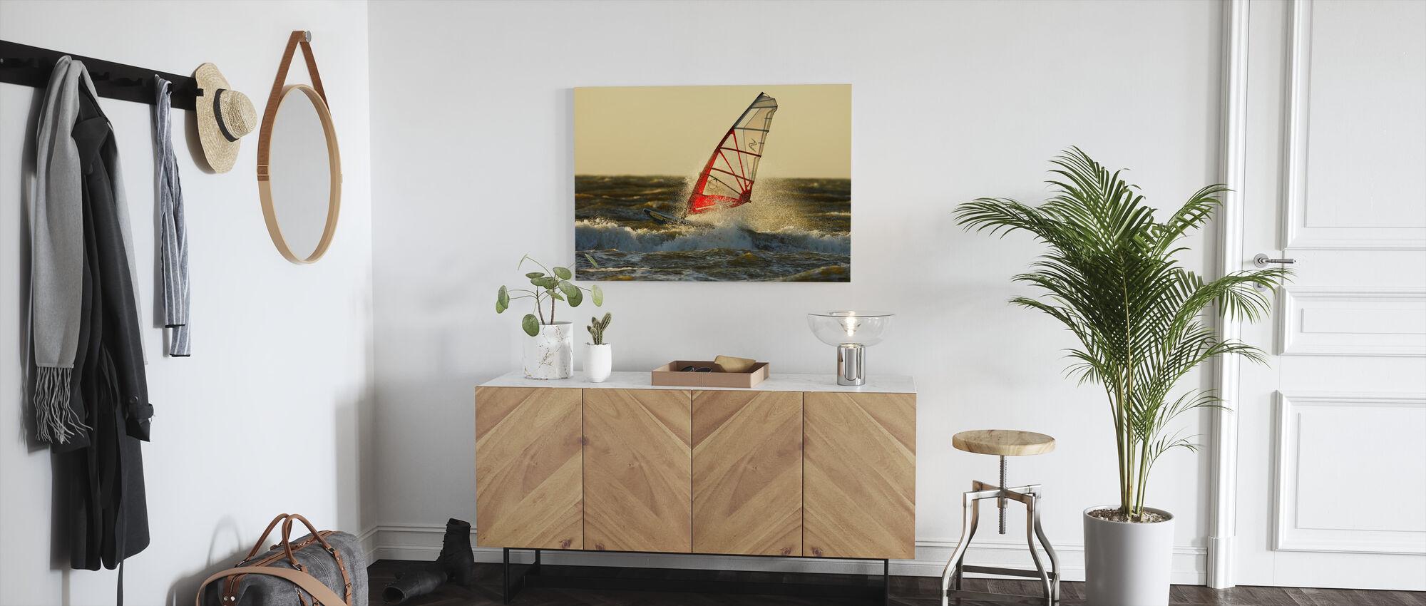 Surfing i Sverige, Europa - Billede på lærred - Entré