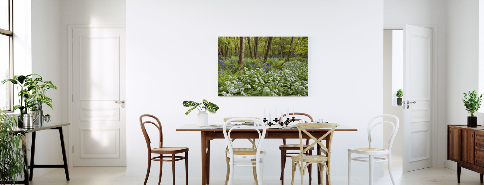 Bear Garlic and Bluebells - Canvas print - Kitchen