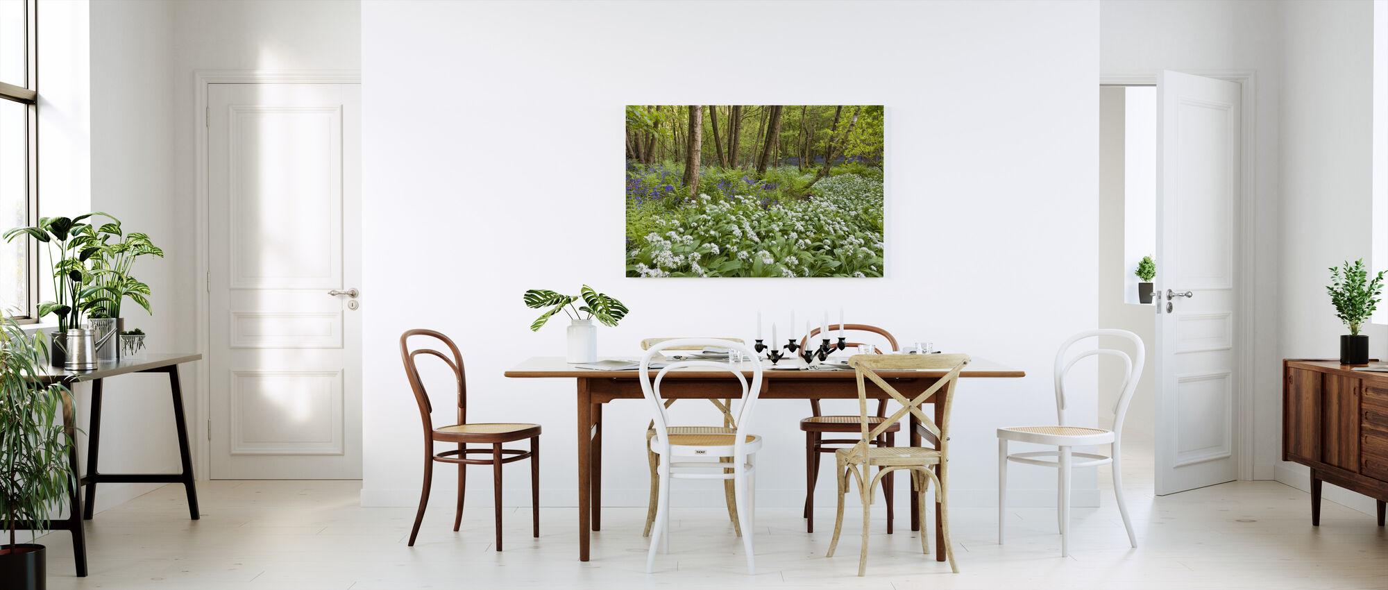 Bear Garlic and Bluebells - Canvas print - Kitchen