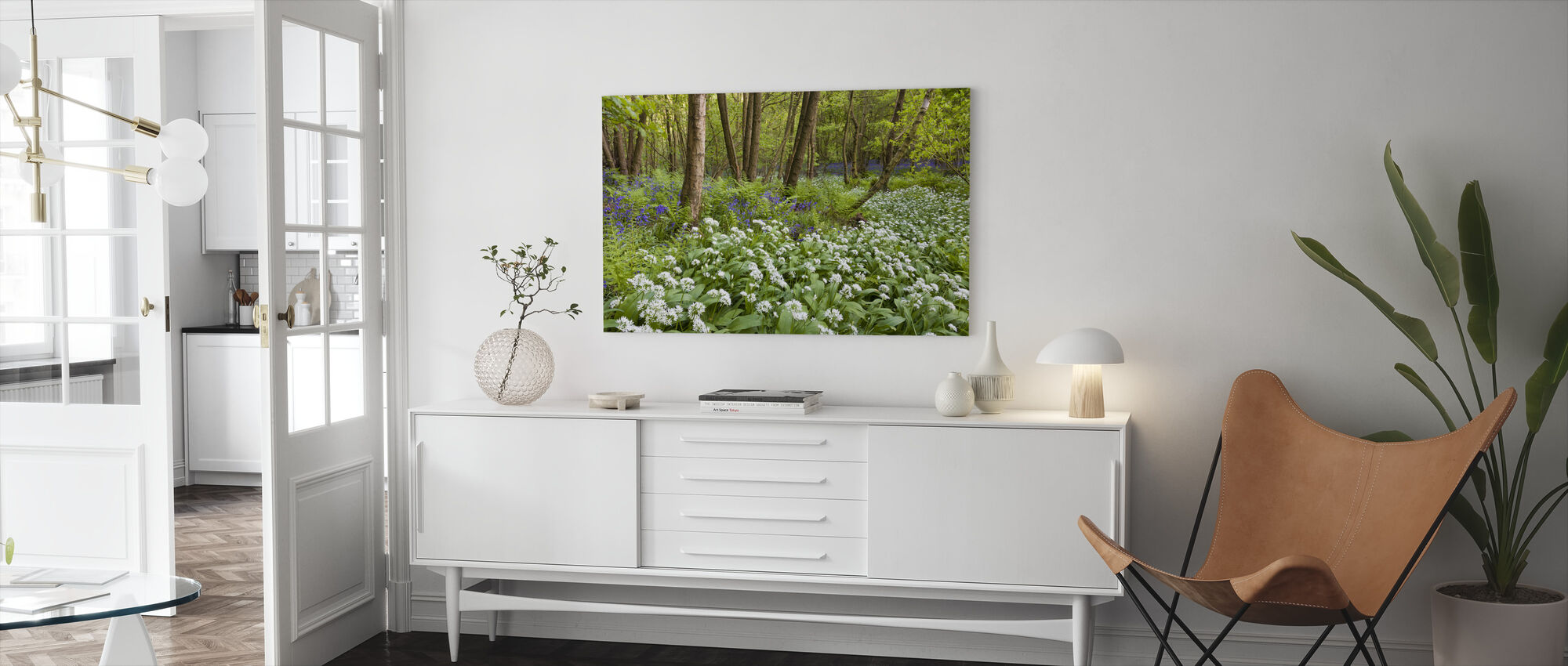 Bear Garlic and Bluebells - Canvas print - Living Room