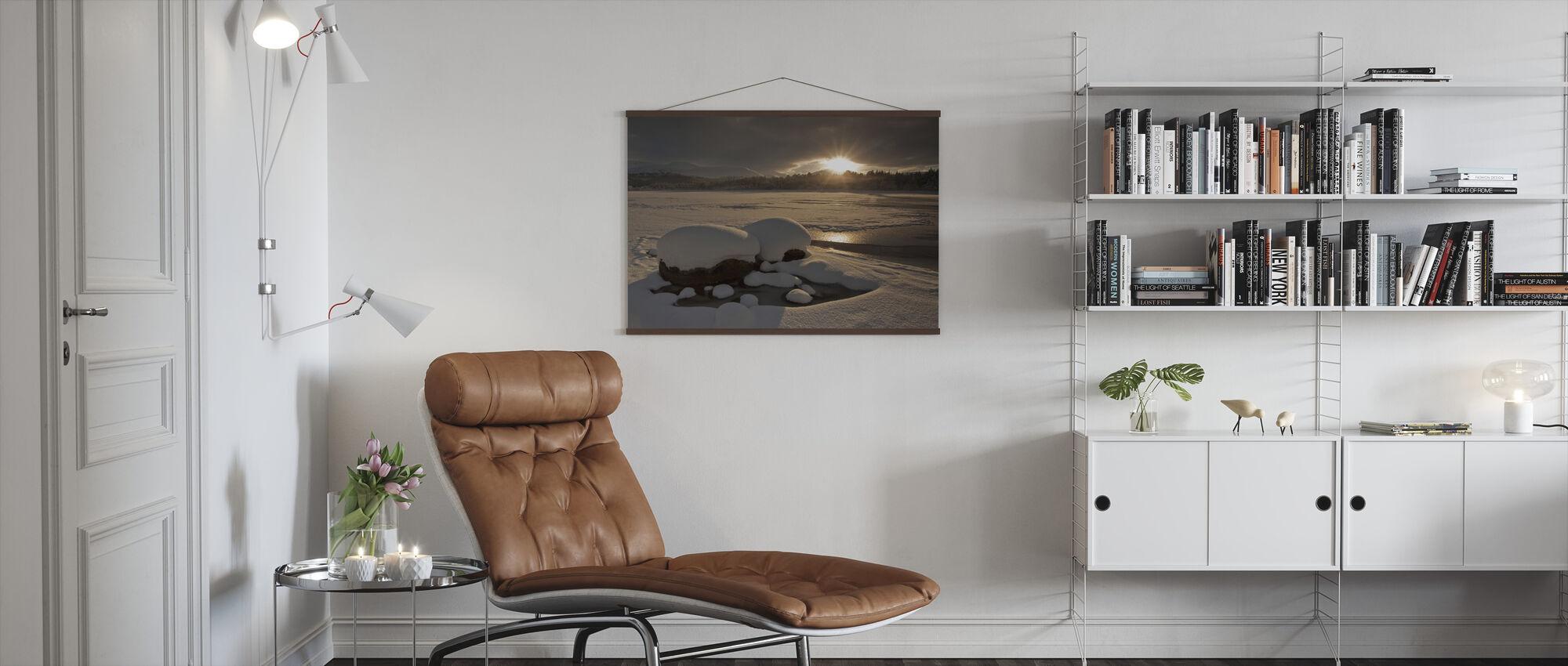 Loch Morlich Frozen Over - Poster - Living Room