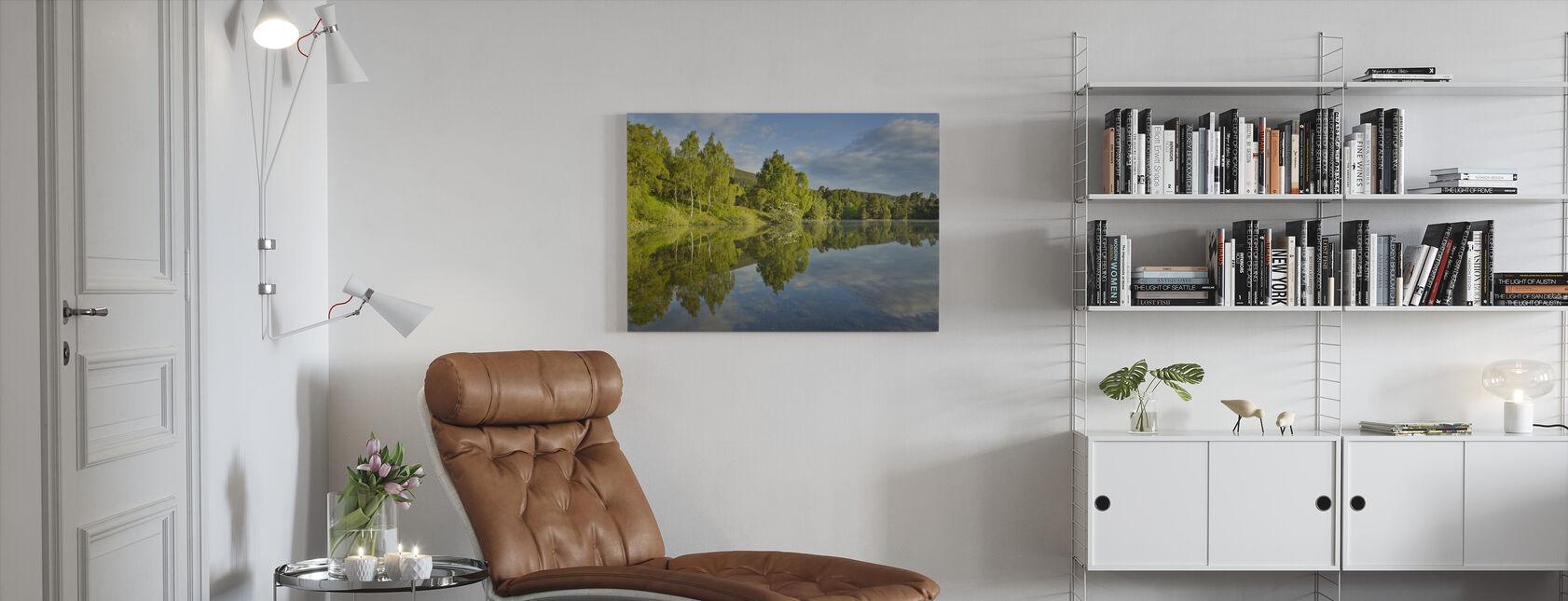 Loch Vaa in Spring - Canvas print - Living Room