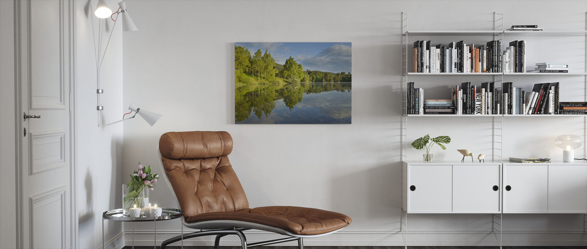 Loch Vaa in Spring - Canvas print - Living Room
