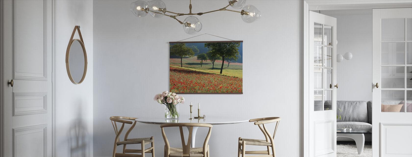 Vallmo Blommande i ett fält - Poster - Kök