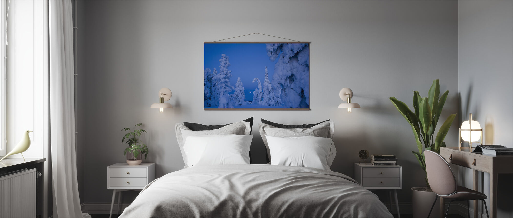 Snow Laden Taiga Woodland - Poster - Bedroom