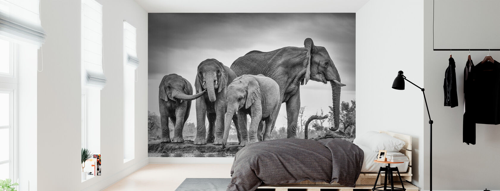 A Giant Unity, black and white - Wallpaper - Bedroom