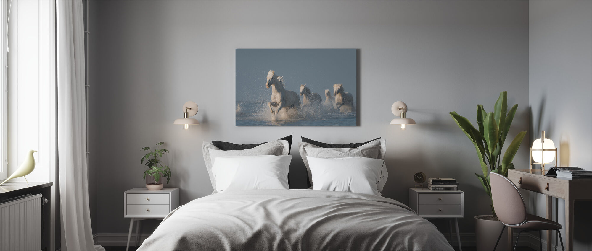 Angels of Camargue - Canvas print - Bedroom