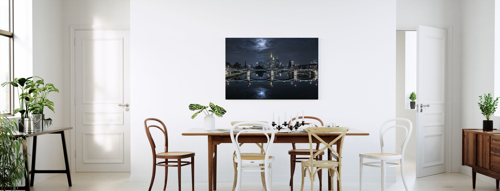 Frankfurt at Full Moon - Canvas print - Kitchen