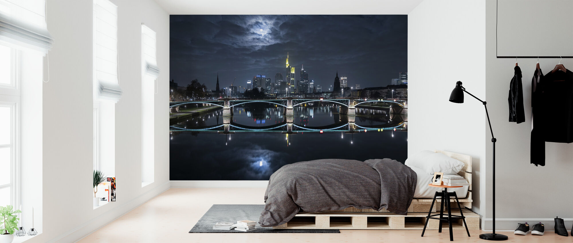 Frankfurt at Full Moon - Wallpaper - Bedroom