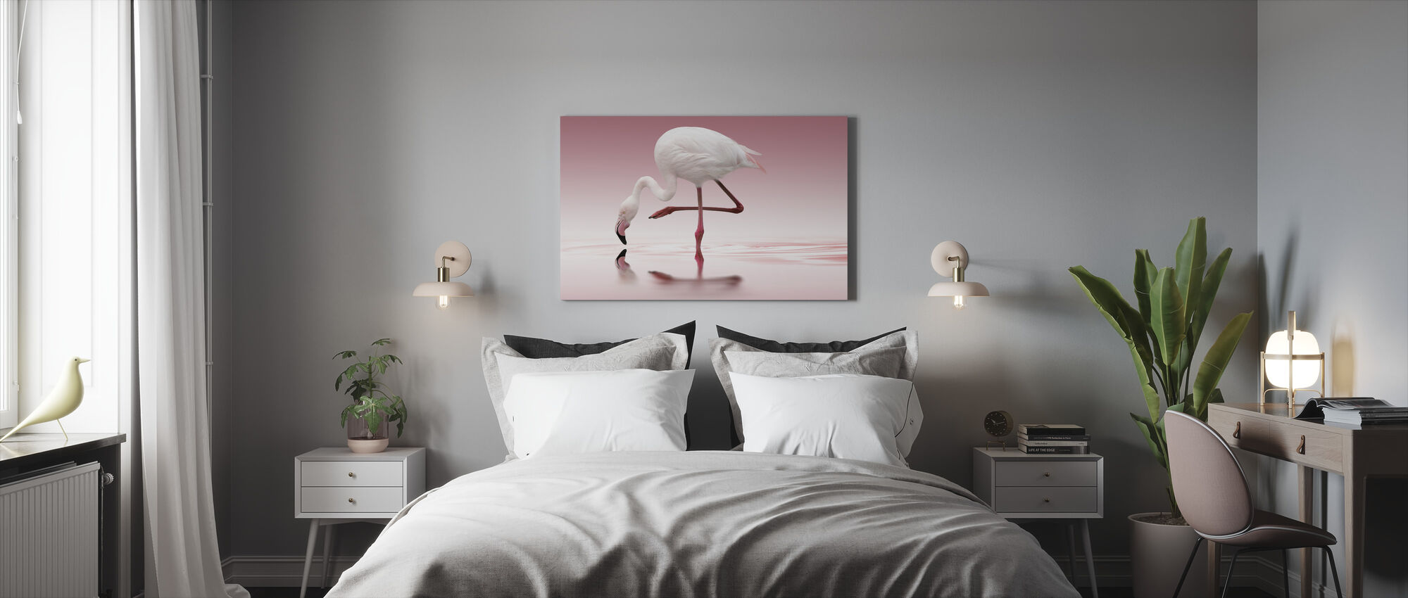 Pink Flamingo - Canvas print - Bedroom