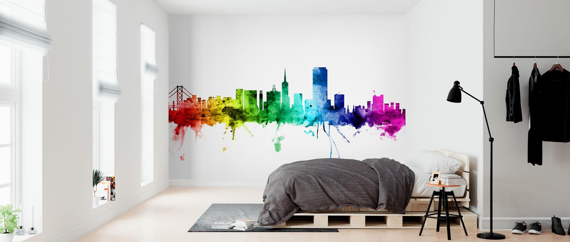 San Francisco Skyline Rainbow - Wallpaper - Bedroom