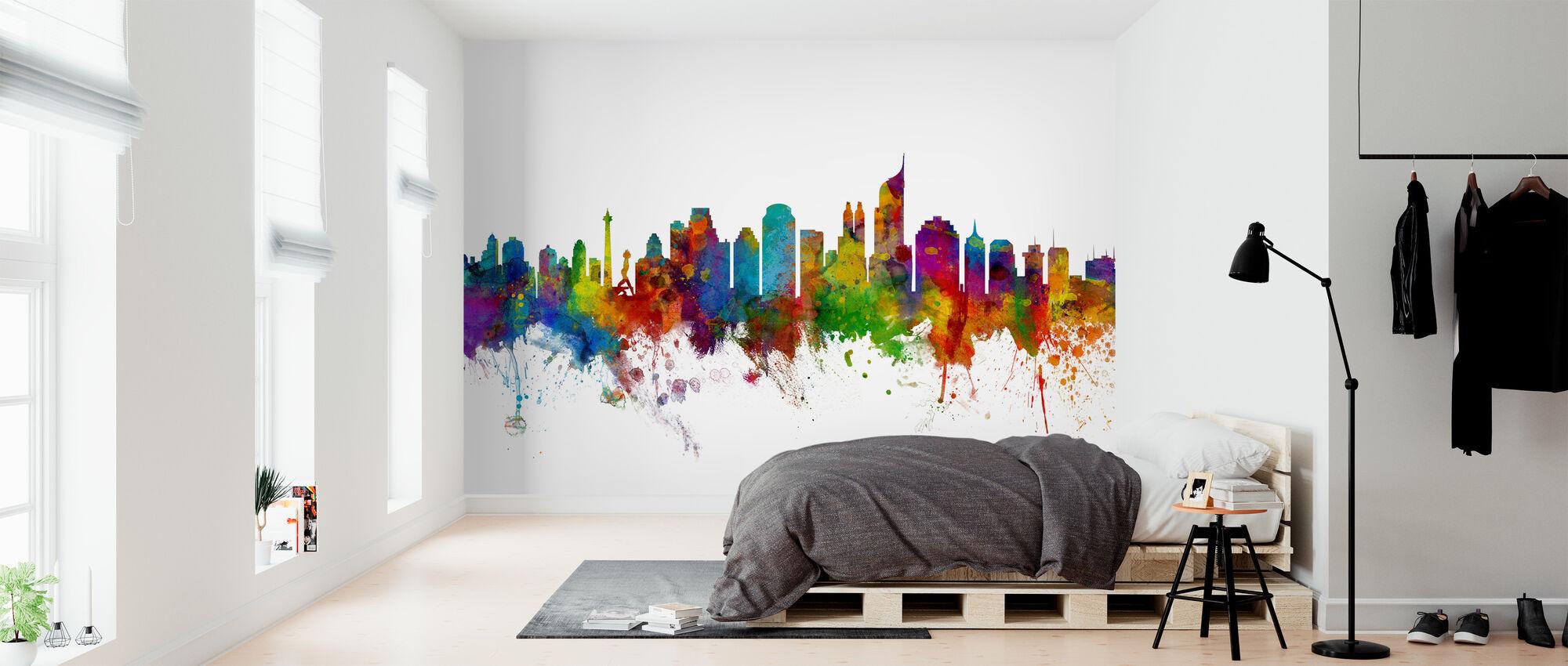 Jakarta Skyline - Wallpaper - Bedroom