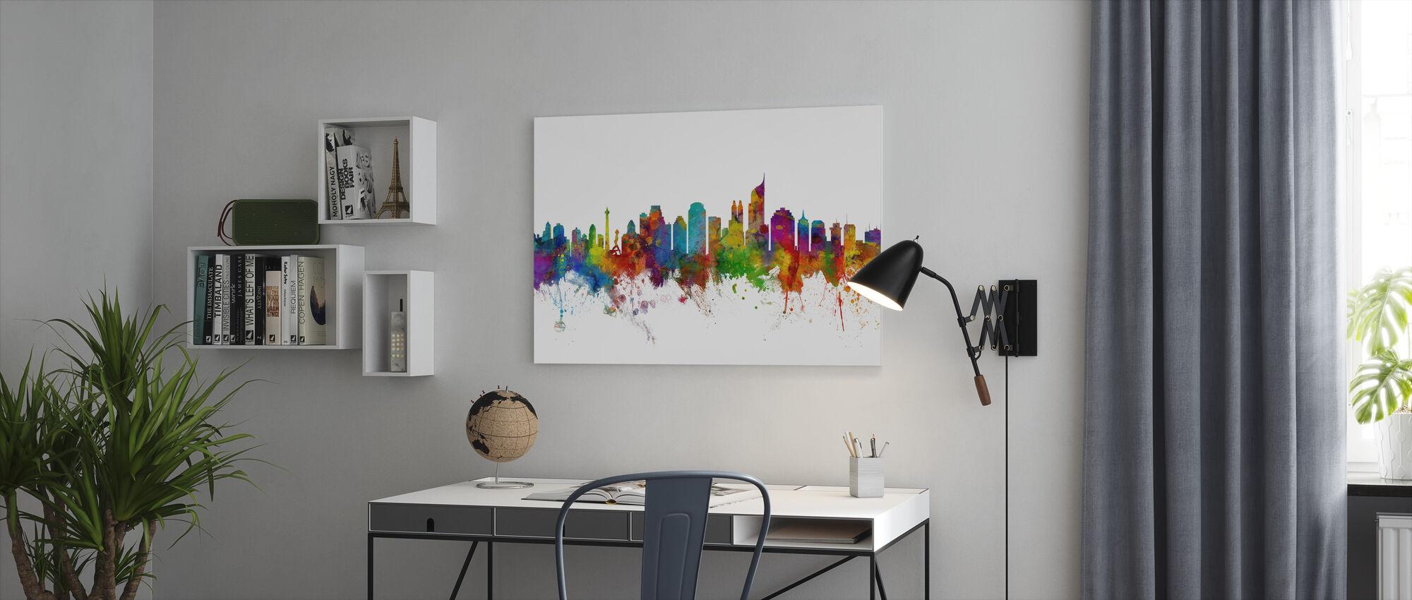 Jakarta Skyline - Canvas print - Kantoor