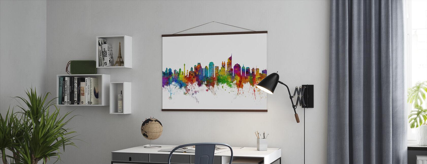 Jakarta Skyline - Poster - Kantoor
