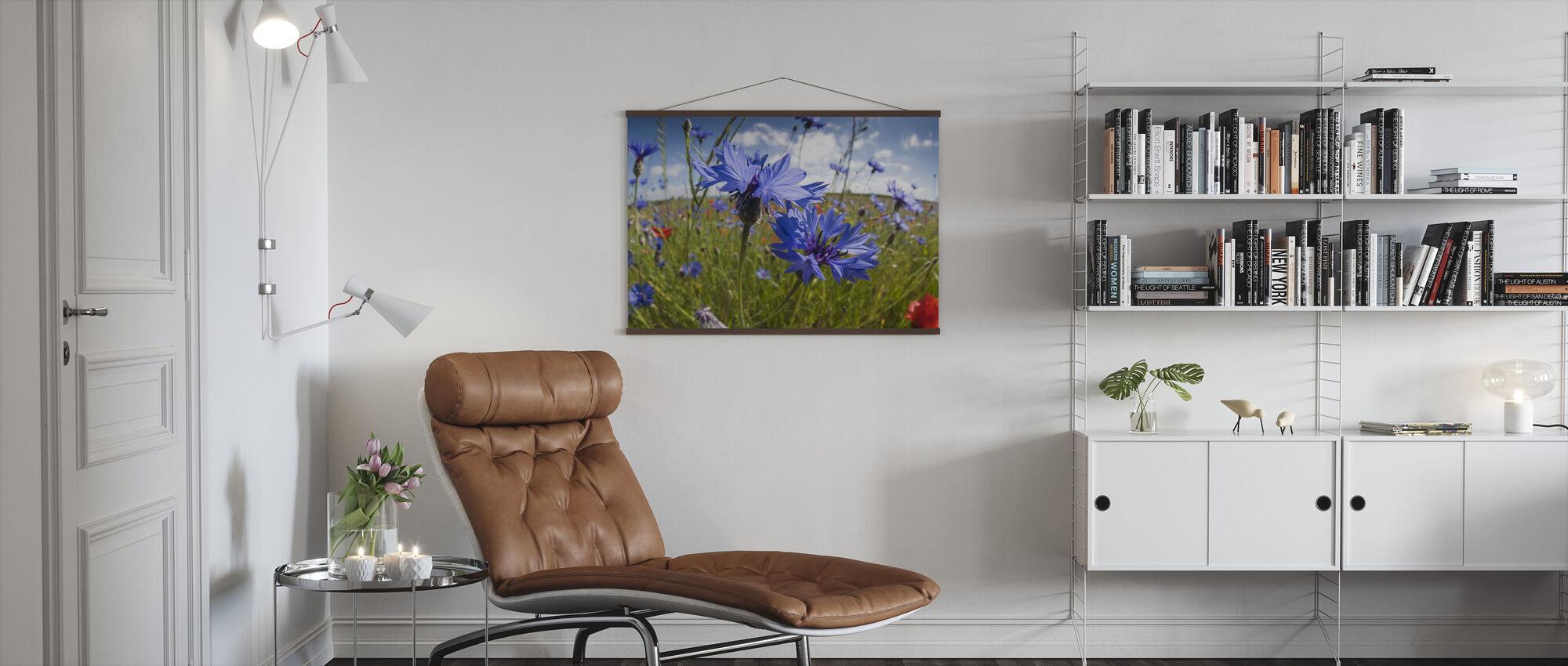 Korenbloemen op braakvelden - Poster - Woonkamer