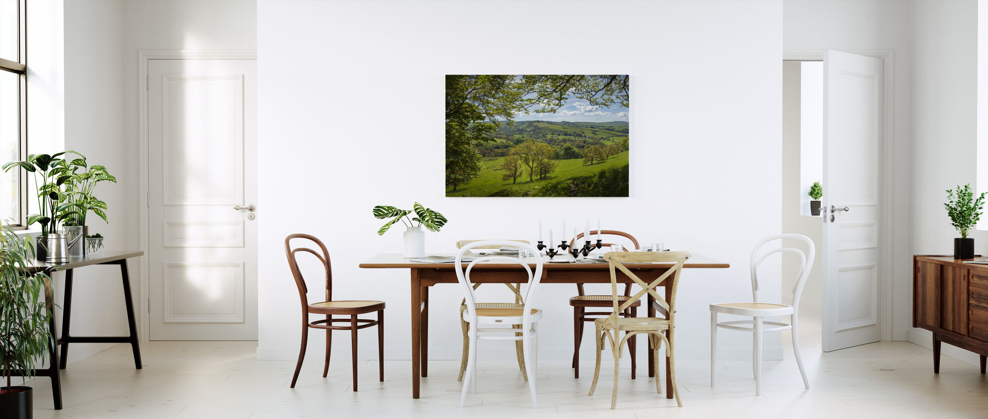 English Country Scene - Canvas print - Kitchen