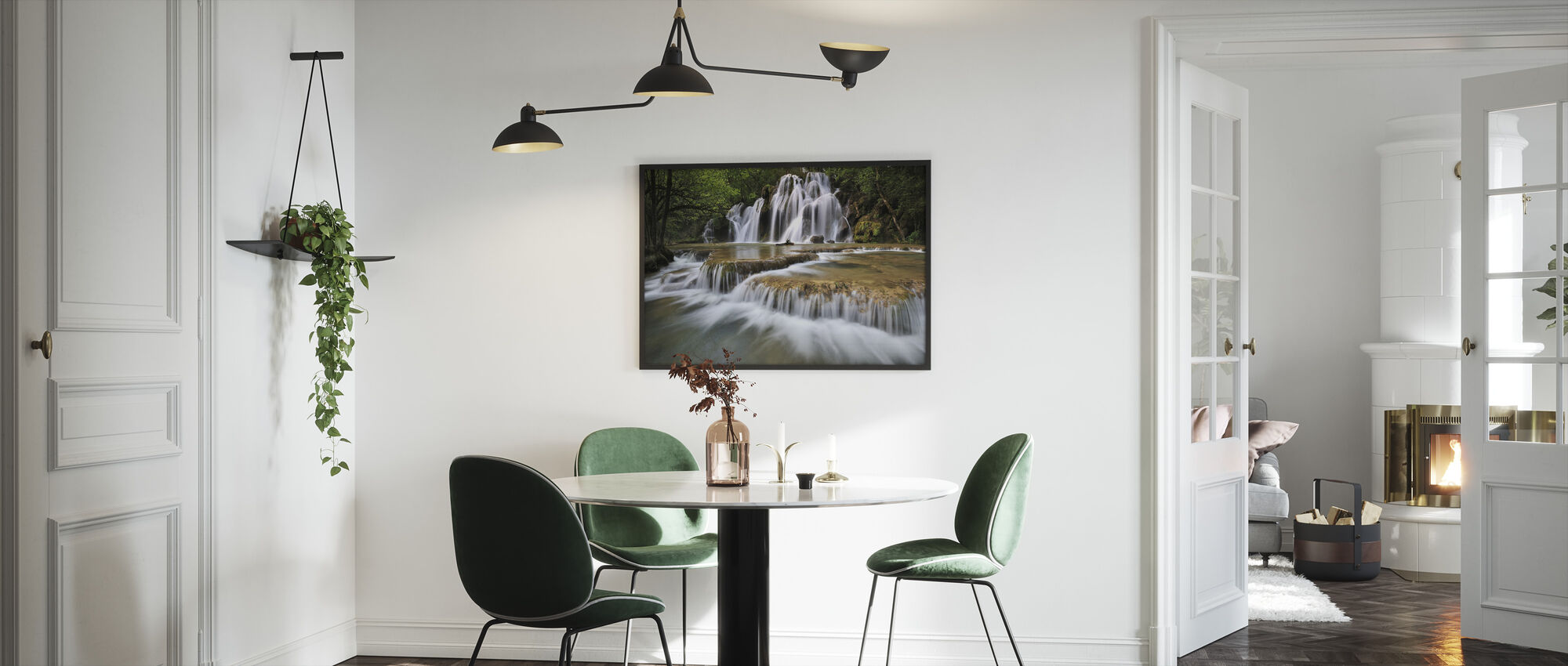 Flowing Water in France - Framed print - Kitchen