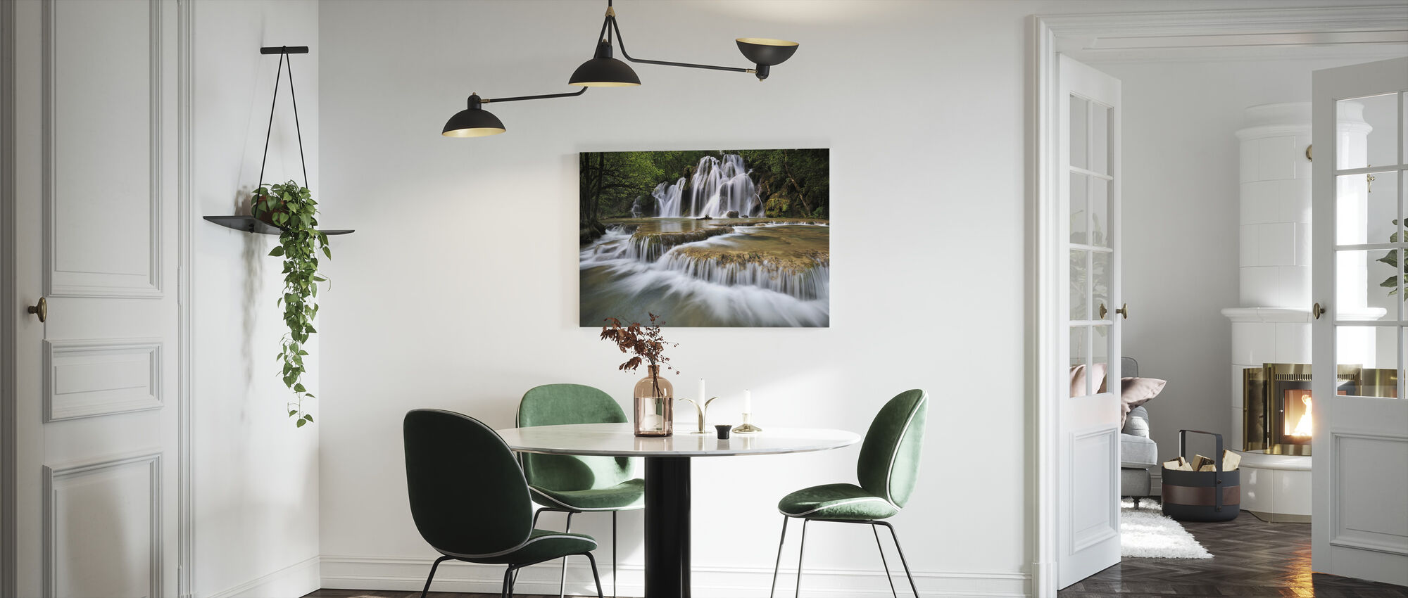 Flowing Water in France - Canvas print - Kitchen