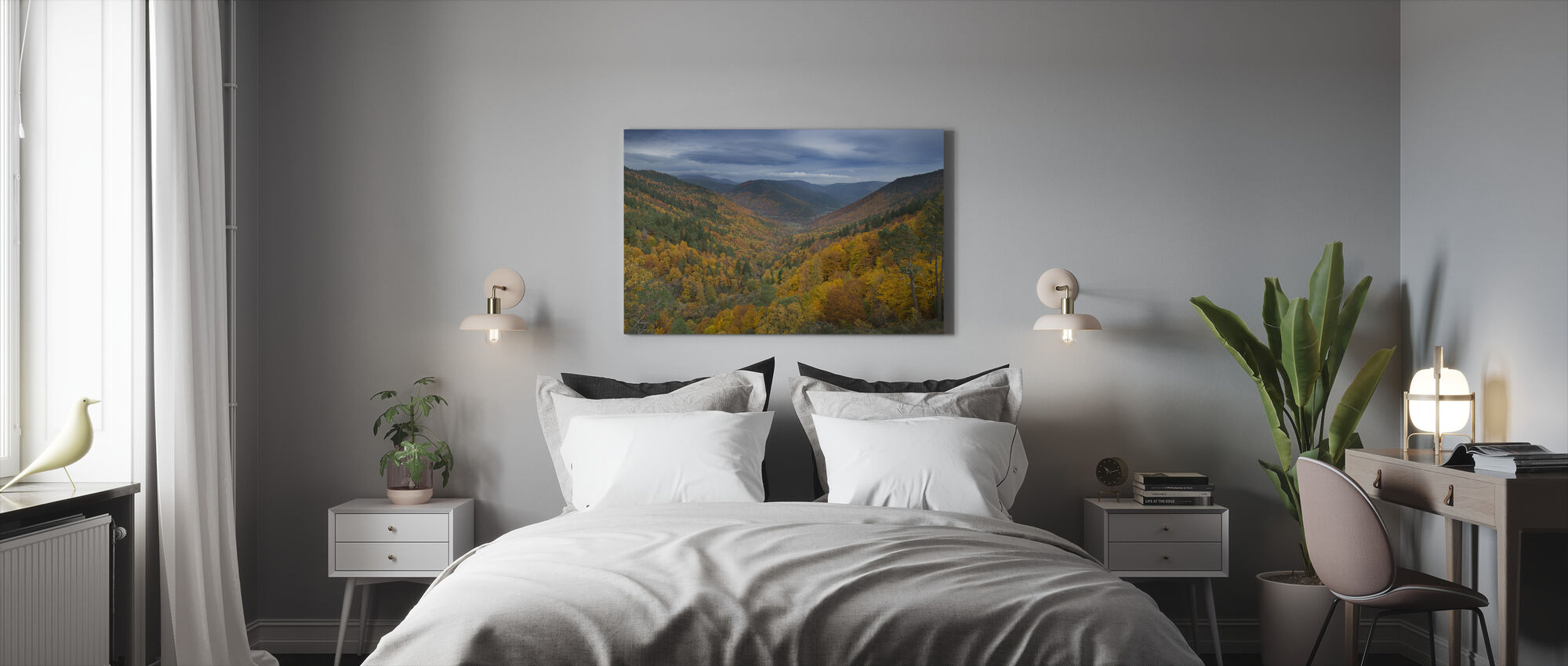Bos in het Estrela gebergte - Canvas print - Slaapkamer