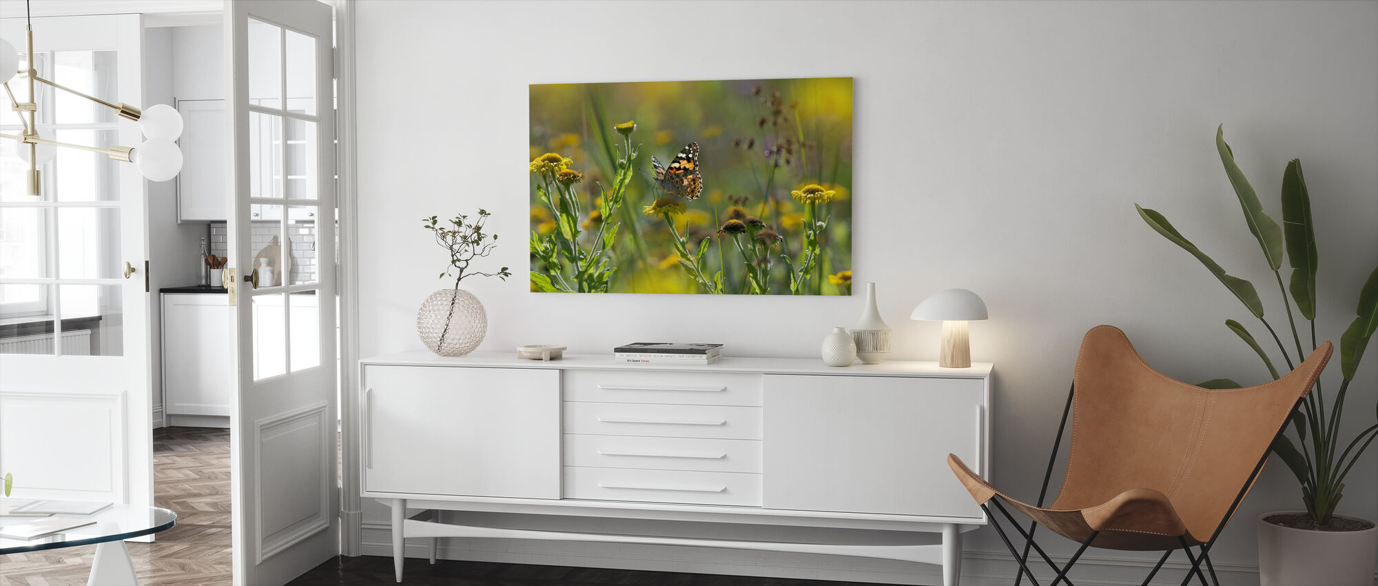 Painted Lady Butterfly - Canvas print - Living Room