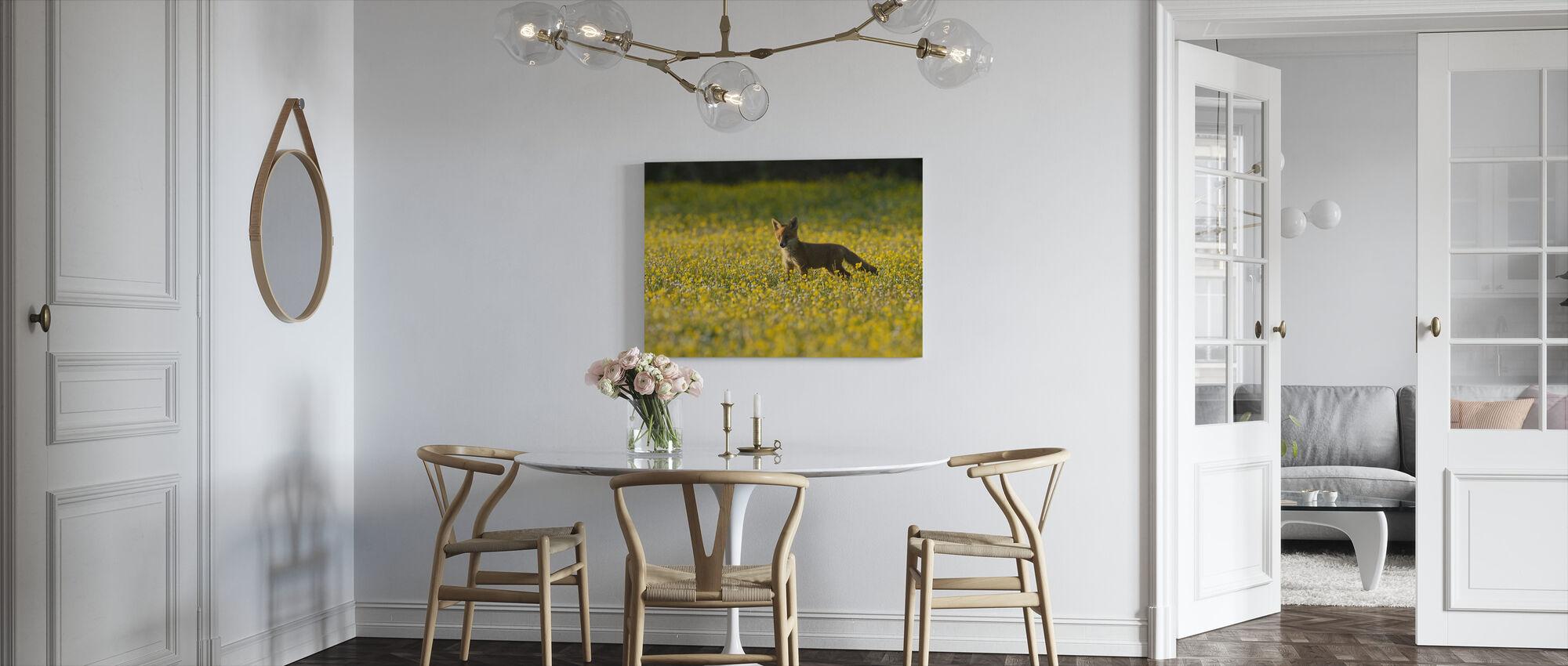 Red fox cub - Canvas print - Kitchen