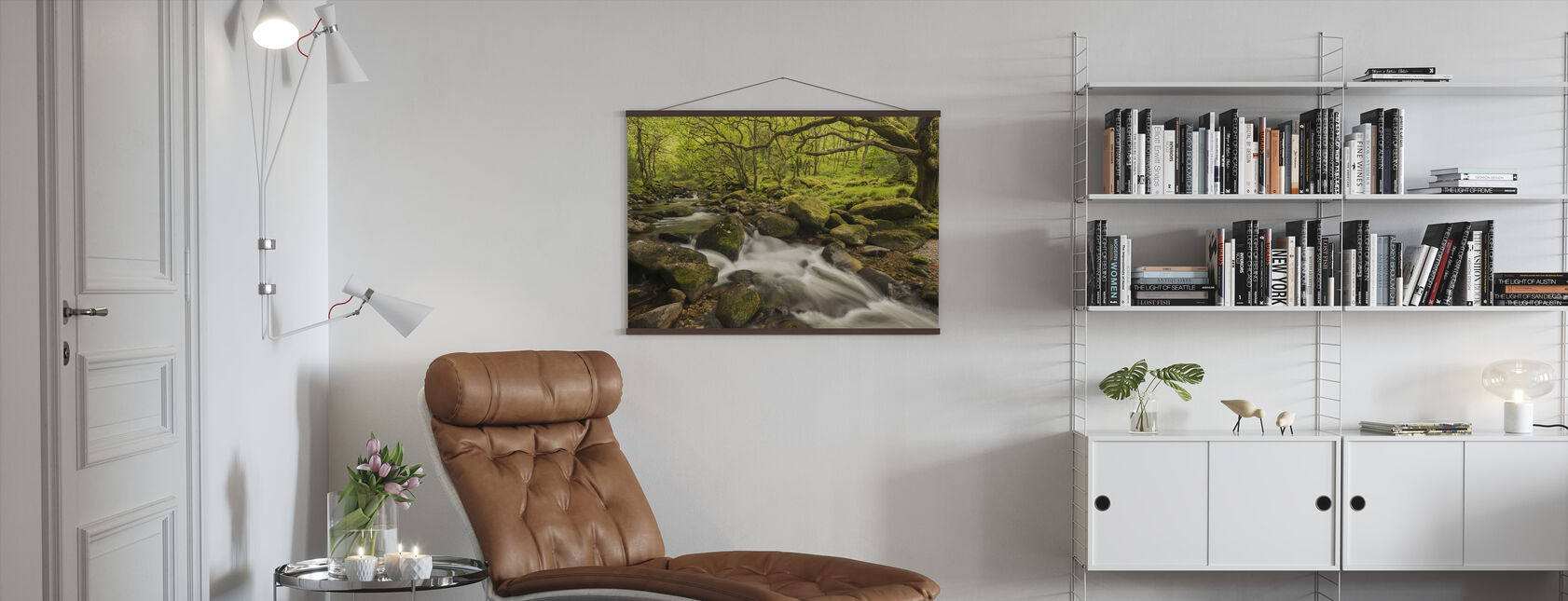 River Plym in Dewerstone Wood, Devon, England, UK - Poster - Living Room