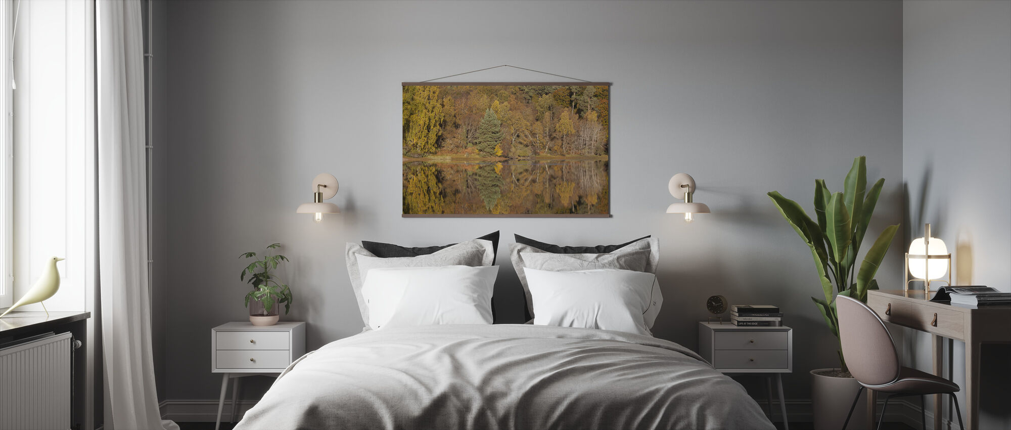 Trees Reflecting in Loch Vaa, Highlands, Scotland, UK - Poster - Bedroom