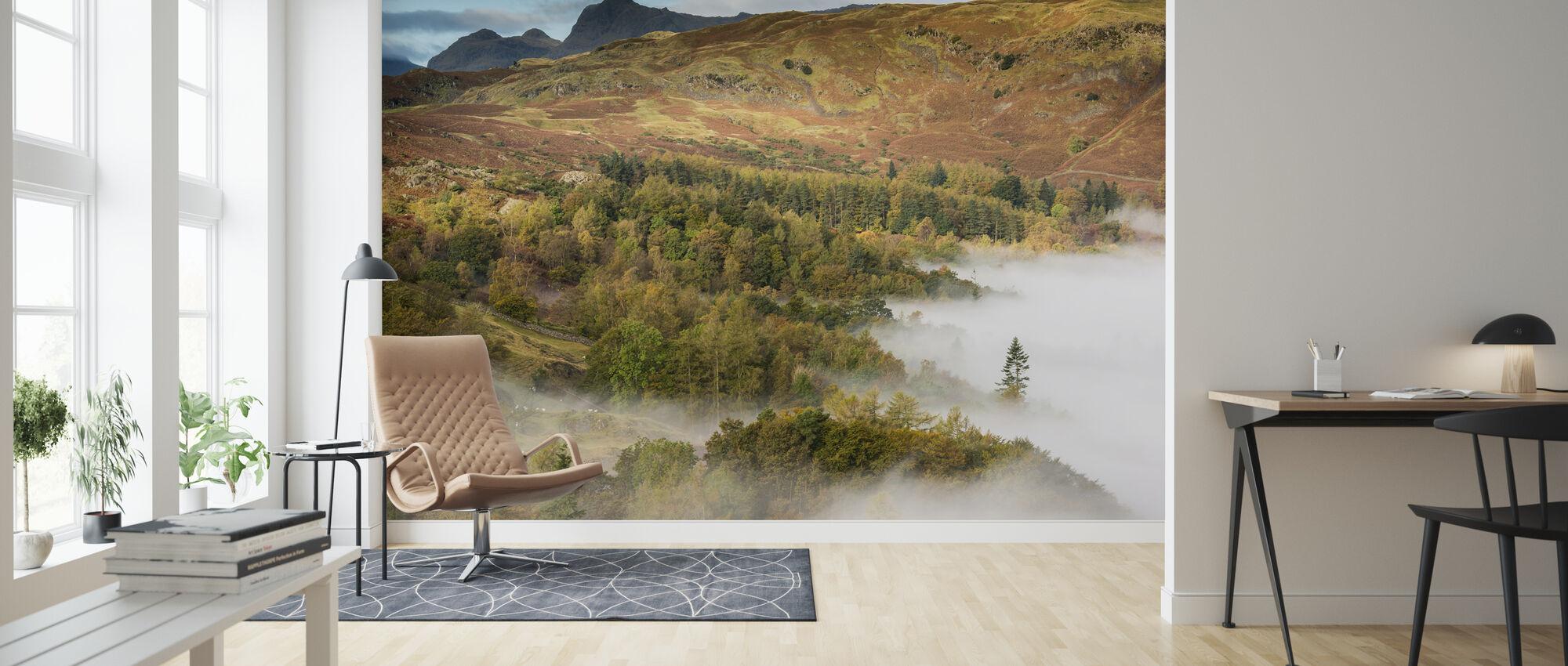 Uitzicht vanuit Loughrigg - Behang - Woonkamer