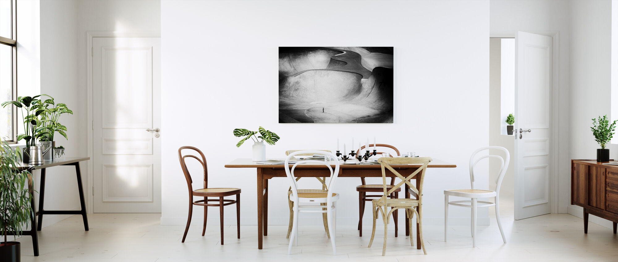 Beyond Reality, black and white - Canvas print - Kitchen