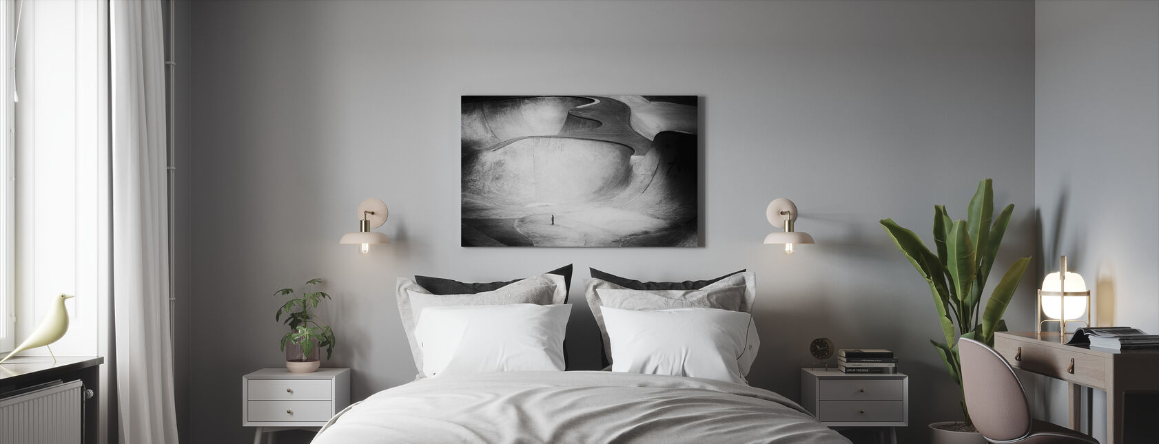 Beyond Reality, black and white - Canvas print - Bedroom