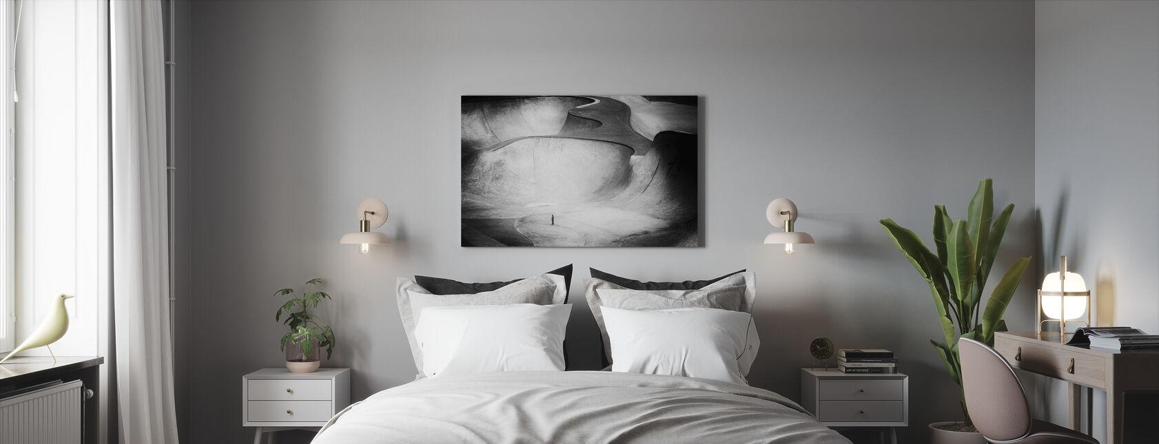 Beyond Reality, zwart en wit - Canvas print - Slaapkamer