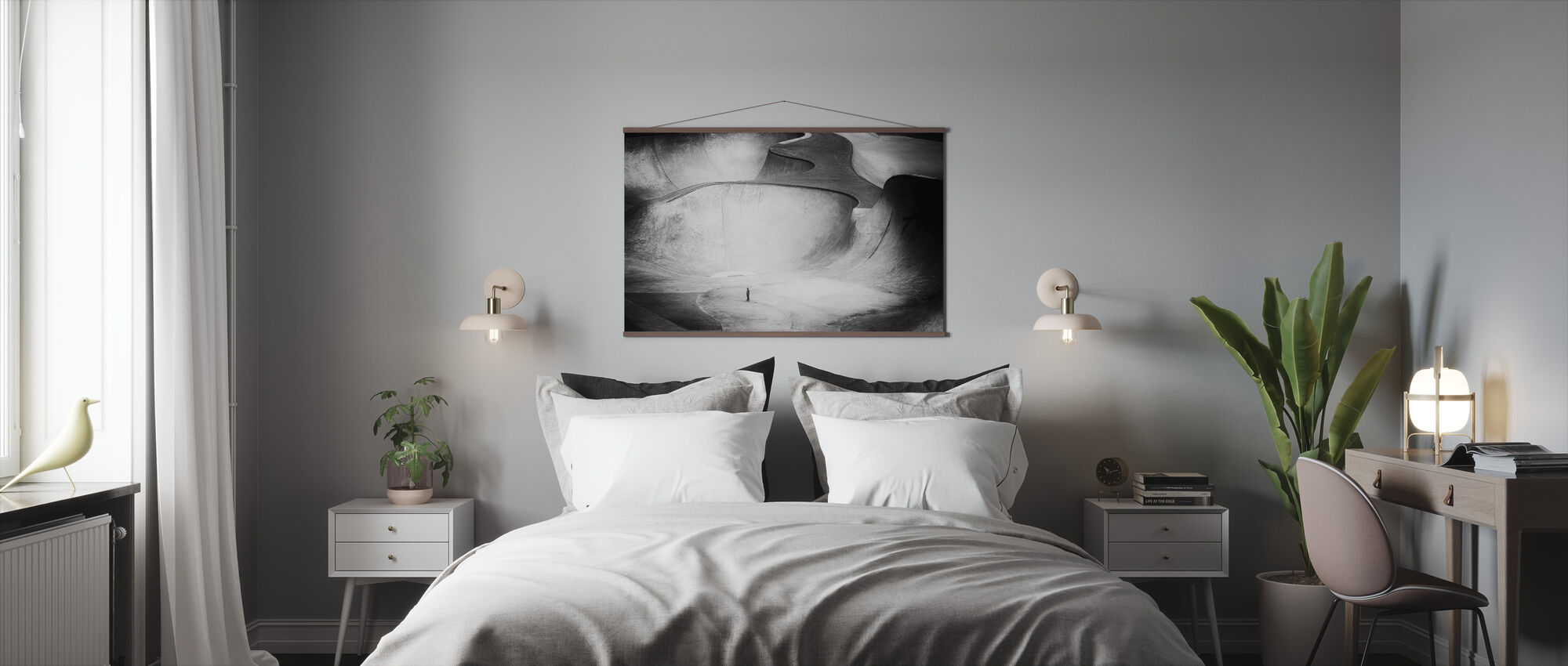 Beyond Reality, black and white - Poster - Bedroom