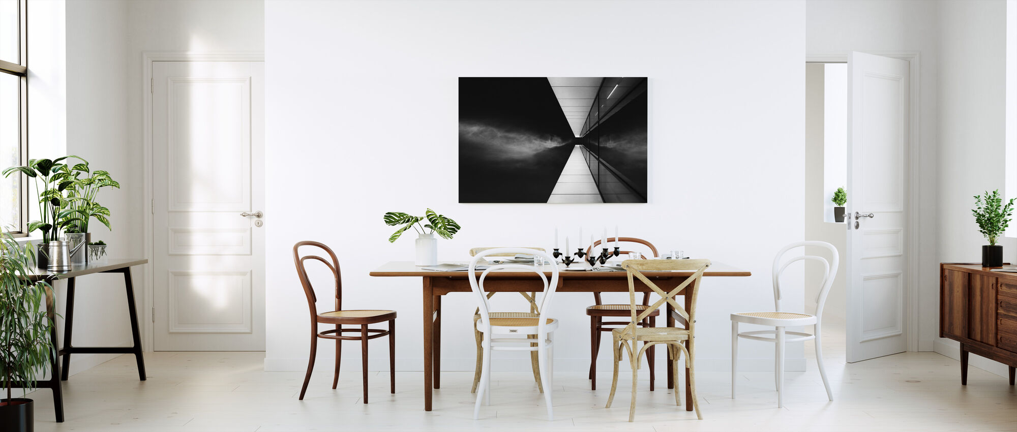 Cloud Attack, black and white - Canvas print - Kitchen