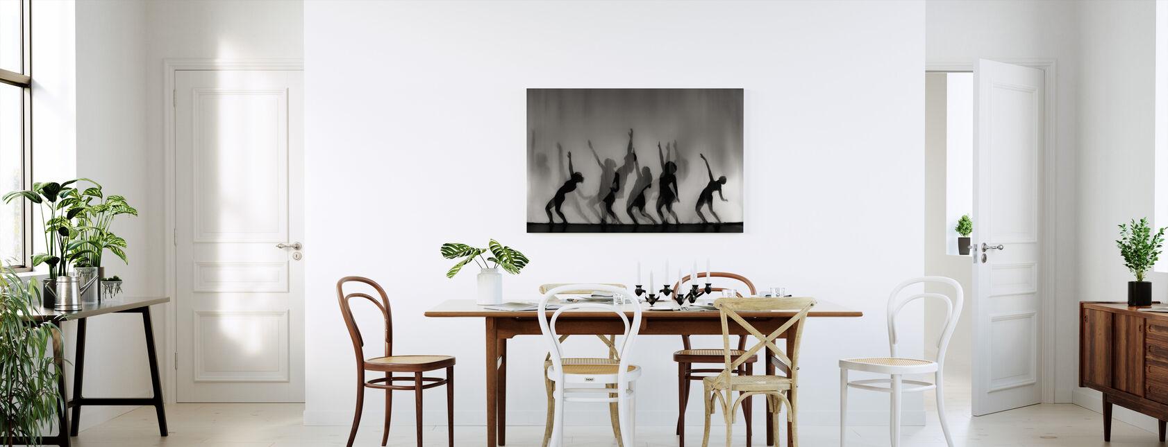 Dans er sjelens språk, svart og hvitt - Lerretsbilde - Kjøkken