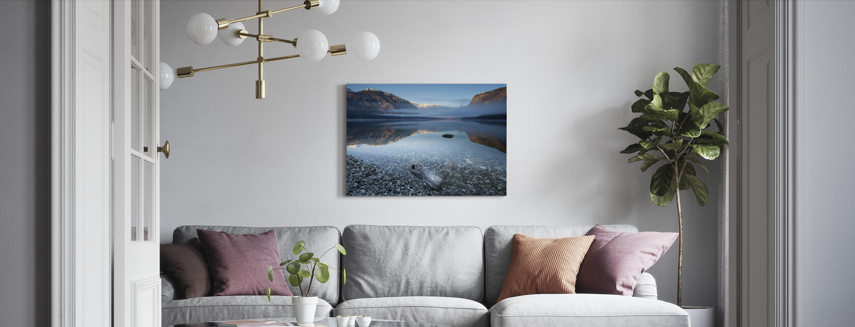 Bohinj's Tranquility - Canvas print - Living Room