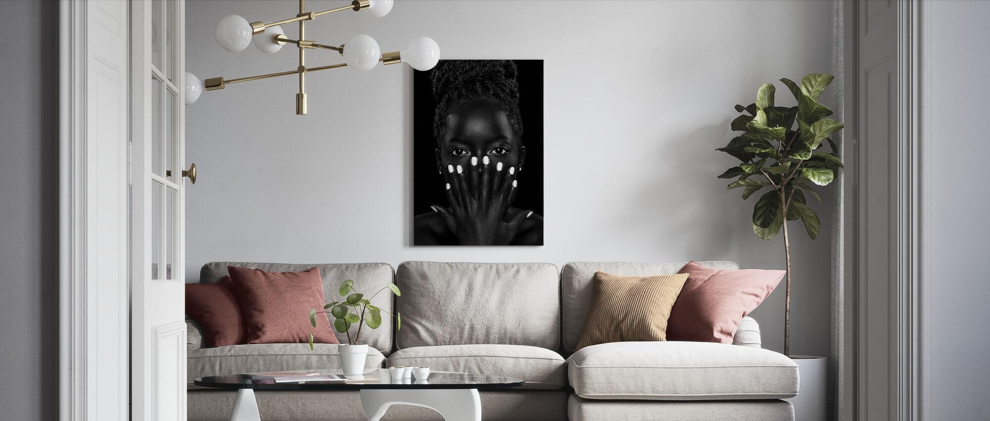 Brenda, black and white - Canvas print - Living Room