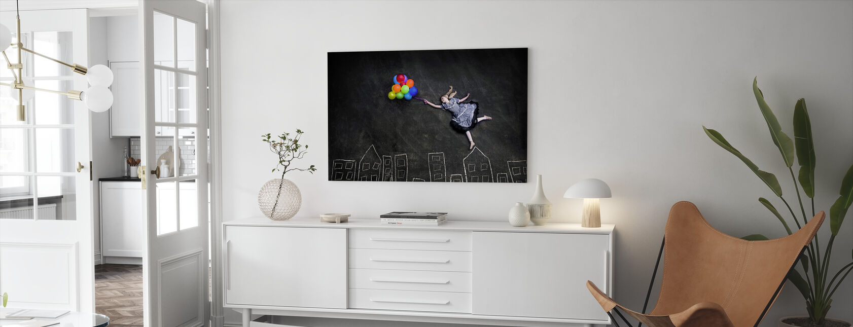Flying on the Rooftops - Canvas print - Living Room