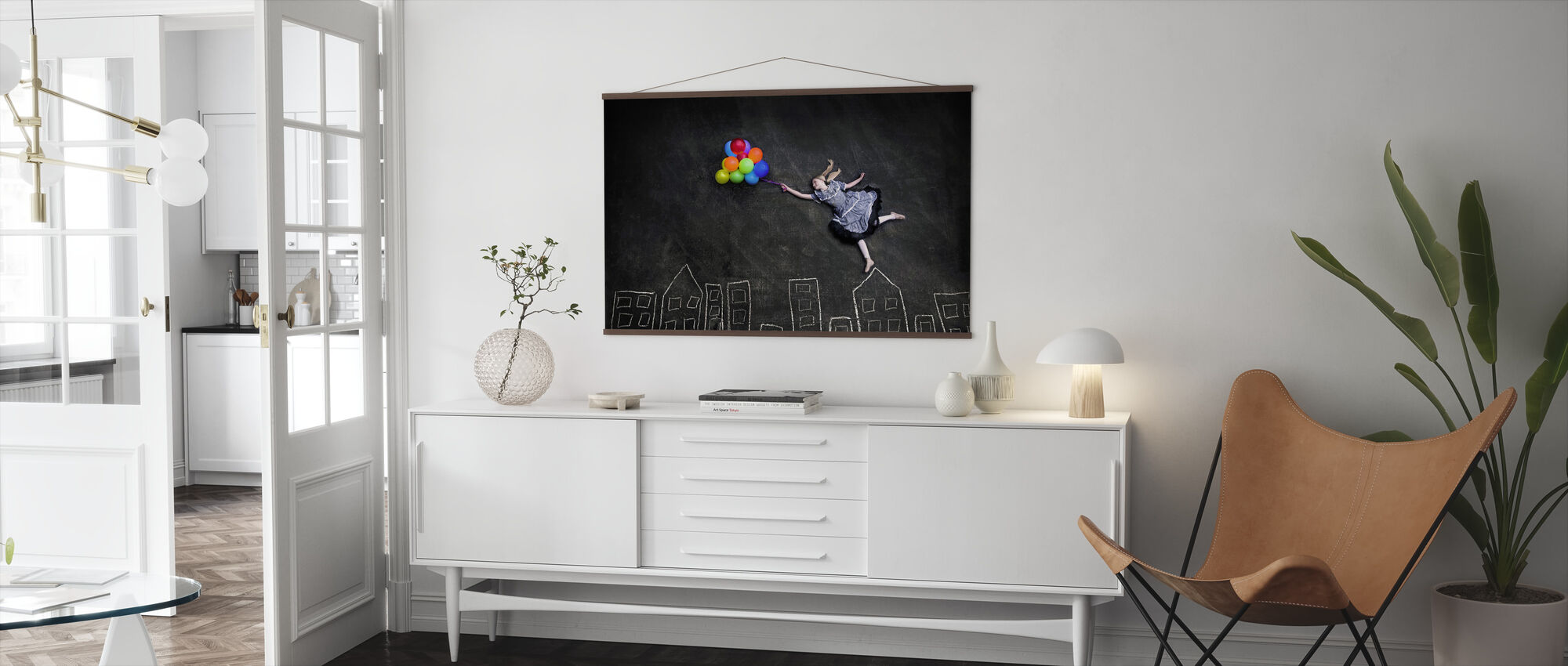 Flying on the Rooftops - Poster - Living Room