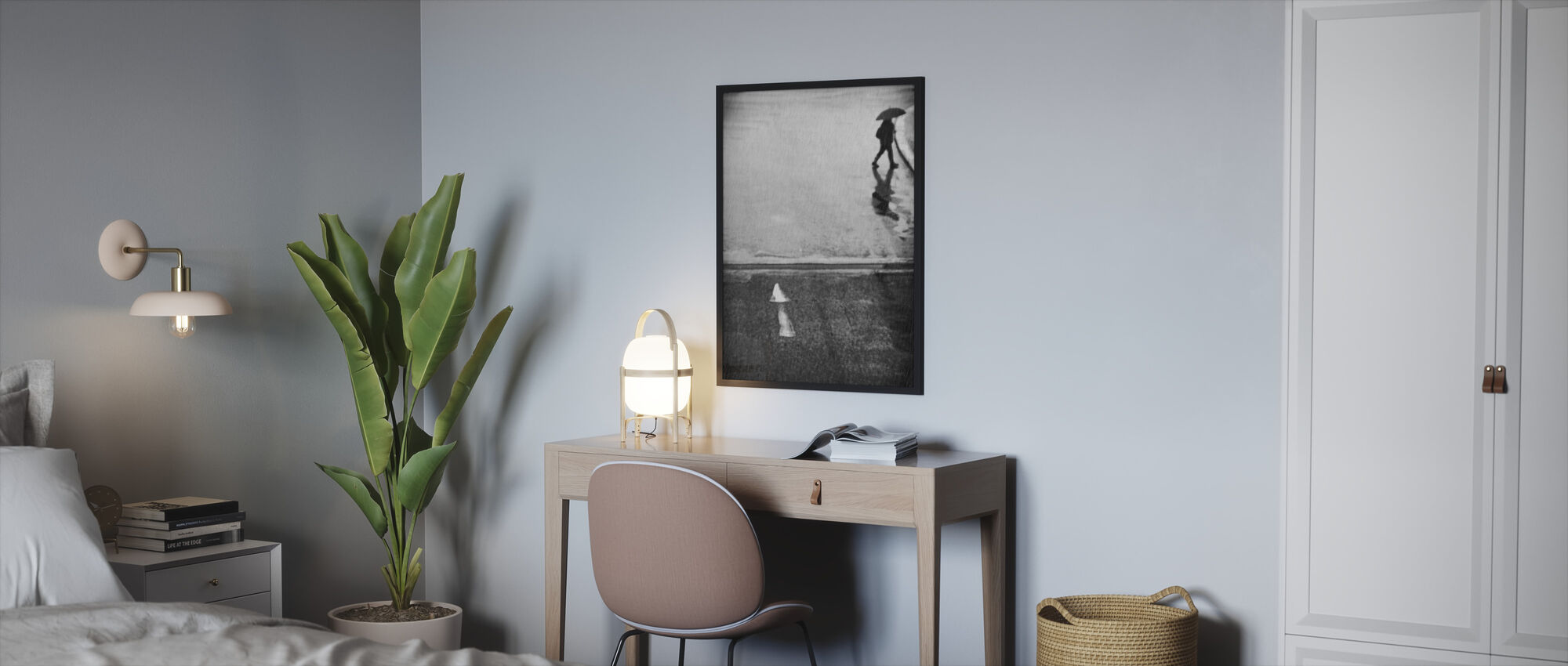 If I Have To Go, black and white - Framed print - Bedroom