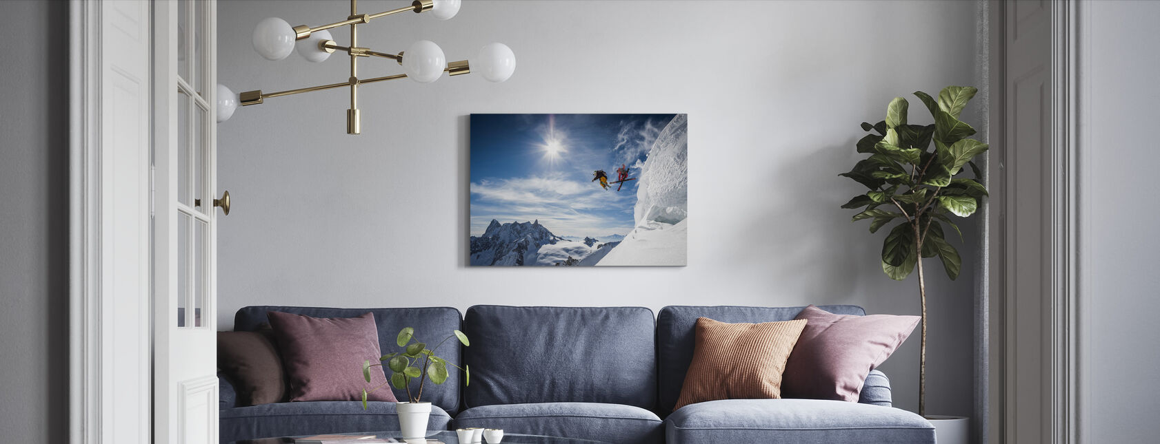 Jumping Legends - Canvas print - Living Room