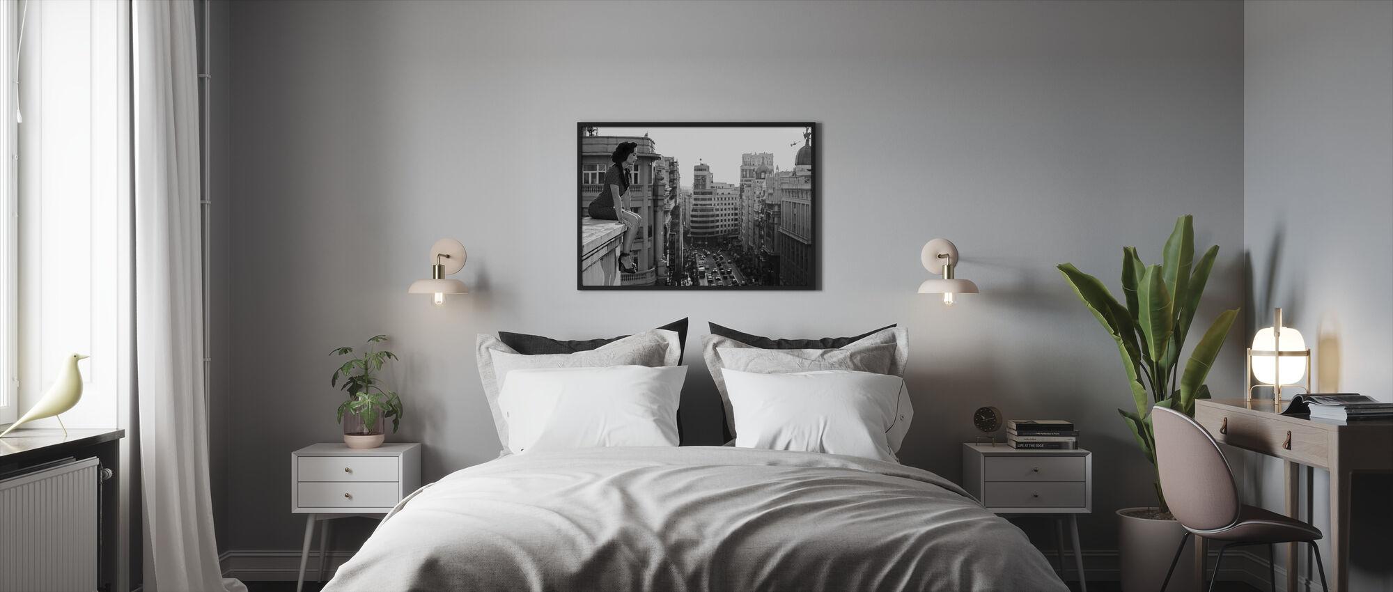 Mad Madrid, svart og hvitt - Innrammet bilde - Soverom